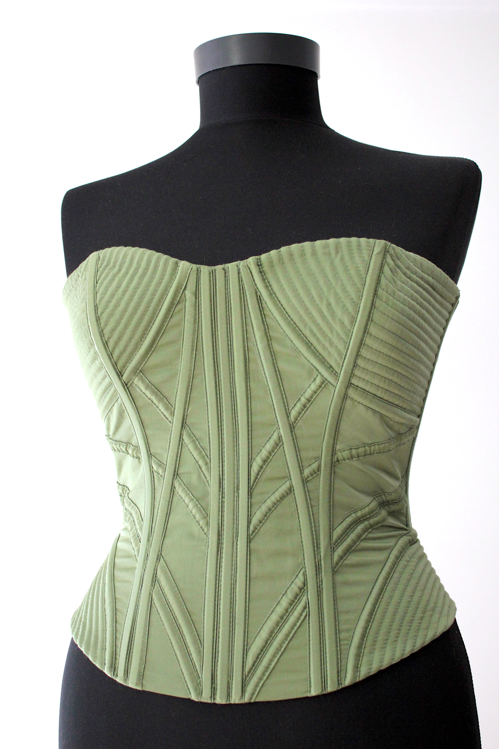 VICTORIAN CORSET GREEN, ONLY ON ORDERS