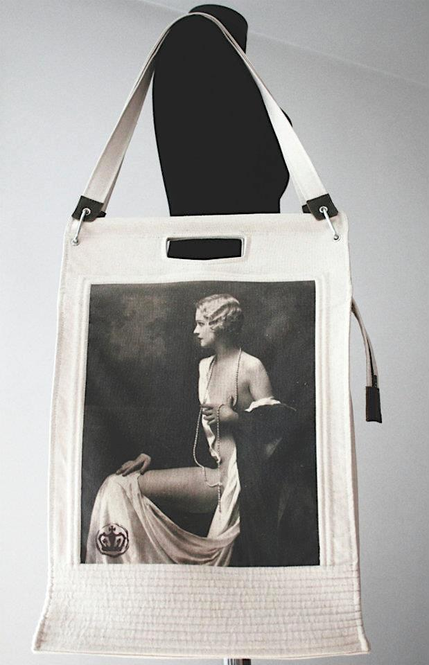 BAG CANVAS WITH PRINT VINTAGE